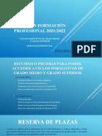 Admision Formacion Profesional 2021 2022 Alumnado Periodo Ordinario
