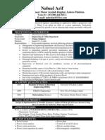 Nabeel (Electrical Engineer) resume