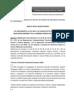 MODIFICATORIA DE LEY 30512   NUEVO TEXTO SUSTITUTORIO 3386, 2847, 3970, 5924, 5670 y 5951 final