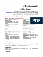 Wilolud Journals - Call for Papers 2011
