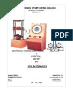 soil mechanics practical final
