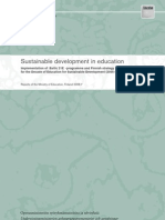 Sustainable development in education