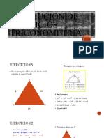Resolucion de ejercicios Trigonometría