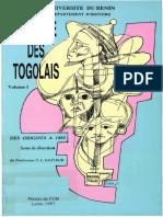 Histoire Des Togolais 1 Des Origines a 1884