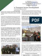 Progress Report on Transport Sector Development