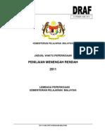 Draf Jadual PMR 2011