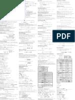 WS 11-12 Analysis Cheat Sheet