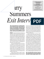 Click here to access the Larry Summers Exit Interview