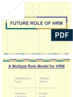 FUTURE ROLE OF HRM