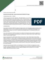CIERRE DE FRONTERAS Decisión Administrativa 589/2021