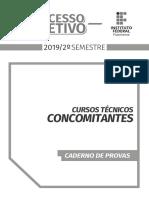 Prova+e+Gabarito +Concomitante+2019.2