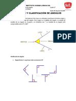 Guia - Medicion y clasificacion de angulos