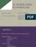 DIGITA  IC TESTER USING MICROCONTROLLER