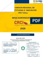 Presentacion Crci Tolima Mesa Agroindustria 5112020