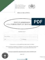Exemple Concours Encg Tafem 2017