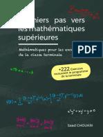 Premiers Pas Vers Les Mathématiques Supérieures