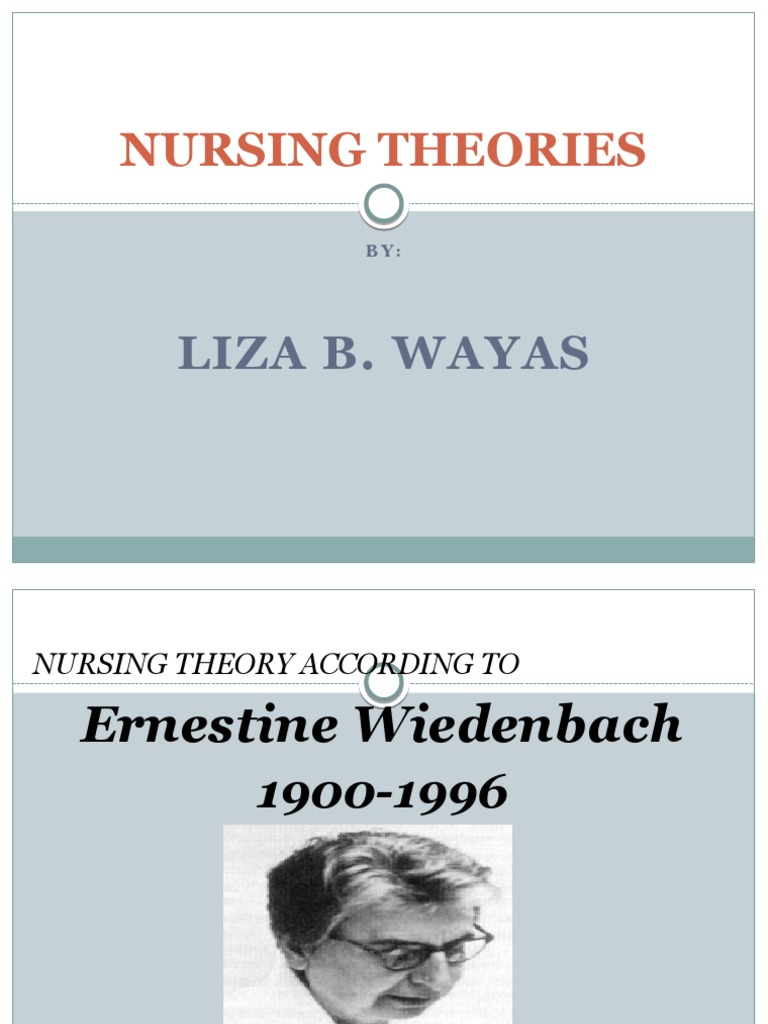 ernestine wiedenbach nursing theory Ernestine weidenbach theory helping art of clinical nursing   a nursing theorist associate professor of yale school of nursing master's.