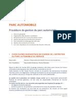 Procédure de gestion du parc automobile - PDF Free Download