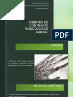 Agentes de Contraste Radiologico