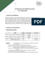 Competences Informatiques en Maternelle