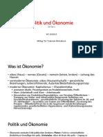 Politik und Ökonomie VO 1