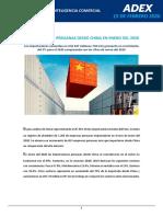 Importaciones Peruanas Desde China en Enero Del 2020