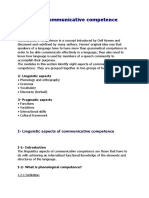 Aspects of Communicative Competence