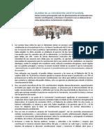 """Declaración emitida por 34 constituyentes, agrupados en la """"Vocería de los pueblos"""", referente a la petición de """"seis garantías democráticas"""" para la Convención Constitucional."""