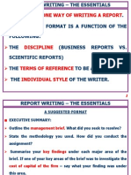 Report Writing - The essentials