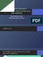 ASPECTOS ETICOS Y LEGALES EN PSICOTERAPIA DE GRUPO