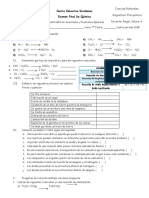 examen final de quimica septimo