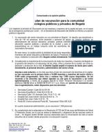 CM Avanza vacunación docentes Bogotá