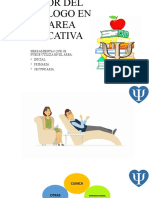 LABOR DEL PSICOLOGO EN EL AREA EDUCATIVA