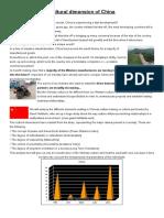 Cultural dimension of China