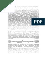 Importancia de La Formulación y Evaluación de Proyectos