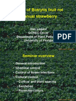 Cultural and chemical control of Botrytis fruit rot