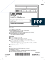 Edexcel Economics Unit 4 June 2010 Question Paper