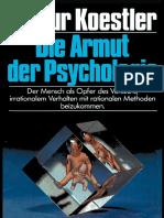 Koestler, Arthur - Die Armut Der Psychologie