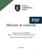 Mémoire Management Clara B M1