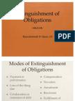Lecture - Extinguishment of Obligations