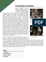 Historia de La Gastronomía de España