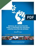 MANUAL DE CAPACITACiÓN PARA LA DEFENSA NO VIOLENTA CONTRA GOLPES DE ESTADO