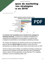 15 Statistiques de Marketing en 2016