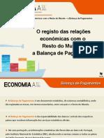 O registo das relações económicas com o Resto do Mundo_ a Balança de  hhhhPagamentos