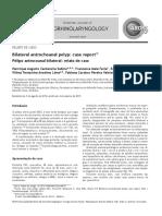 Pólipo Antrocoanal Bilateral Relato de Caso