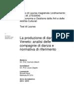 Tesi La Produzione Di Danza in Veneto