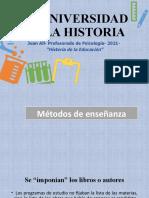 5- E- Métodos de enseñanza- la nacionalización- la universidad moderna