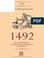1492  fin de la barbarie, comienzo de la civilizacion en America   Tomo I Cristian Rodrigo Iturralde