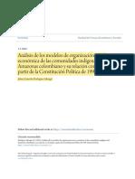 Análisis de los modelos de organización socio-económica de las co