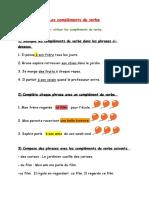 Complements du verbe